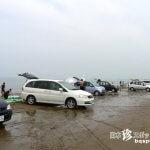 砂浜を走れる車のリゾート「千里浜なぎさドライブウェイ」【石川】