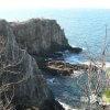 断崖絶壁にいる命がけの趣味人「奇岩(2)白浜三段壁」【和歌山】