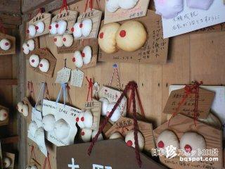 手づくり絵馬のおっぱいがいっぱい「乳神様・軽部神社」【岡山】