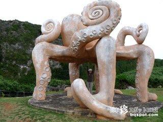 宮古島の珍モニュメント1「来間島のタコ公園」【来間島】