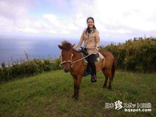 ヨナグニウマに乗って天空の丘比屋定バンタ「久米島牧場」【久米島】