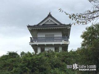 本当はこんな形のお城ではないけれど……「万木城展望台」【千葉】