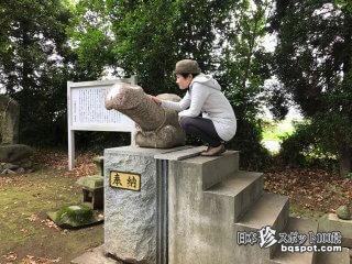 釘がびっしり打ち付けられた男根と女陰木「弓削神社」【熊本】