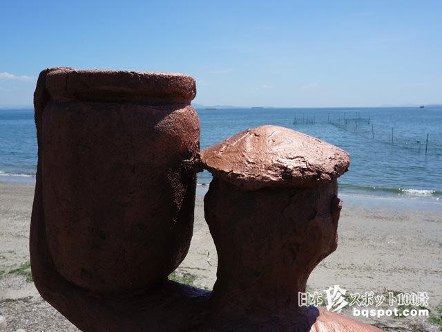 美浜の河童像