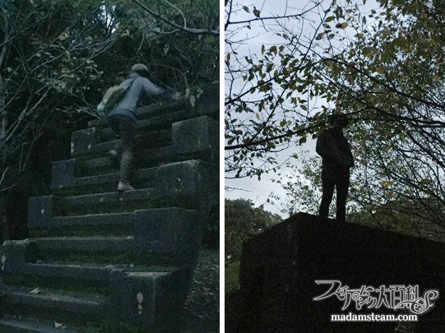 佐倉城址公園の謎の階段