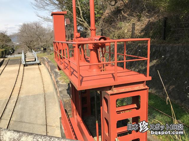 九条山浄水場ポンプ室とインクライン