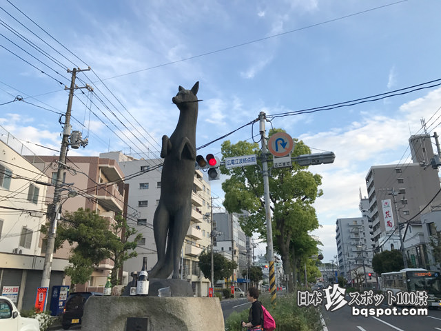 おさん狐の像